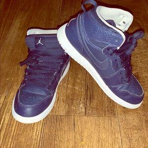 Kids Navy blue Nike 1s